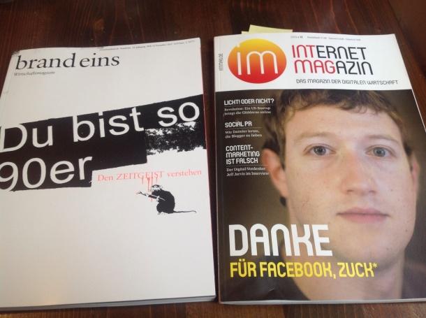 Titelgestaltung mit Zuckerberg - da hilft nicht mal Photoshop