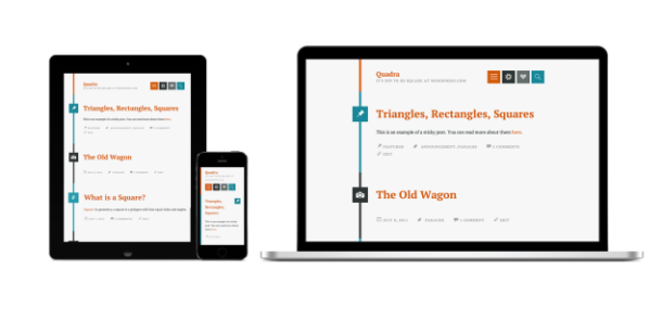 Circa and Quadra Free Responsive WordPress Themes
