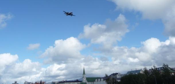 Flug über Reykjavík © Wolfgang Schiffer