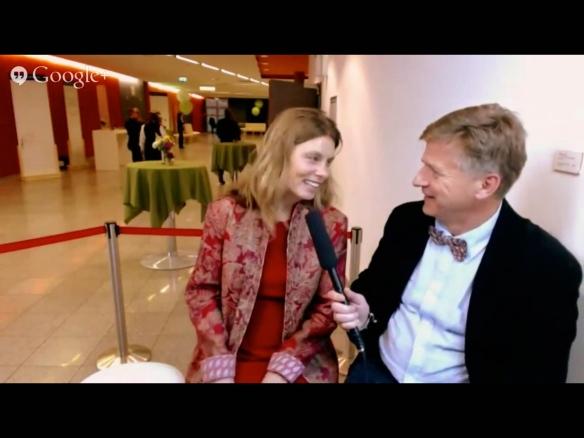 Sarah Wiener im Hangout on Air-Gespräch