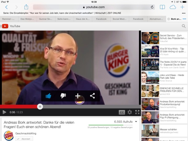 Nette Idee: Burger-Sprechstunde