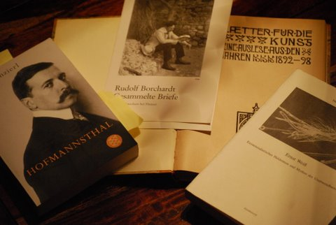 Hofmannsthal und Dichterfreund Borchardt