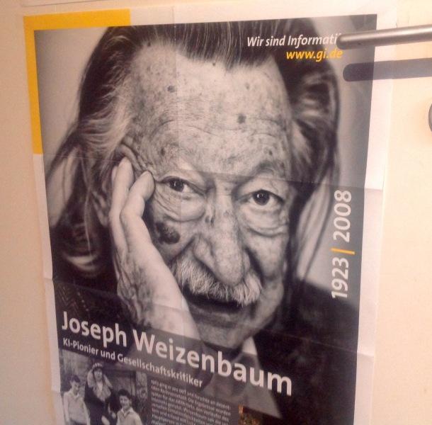 Weizenbaum-Plakat der Gesellschaft für Informatik