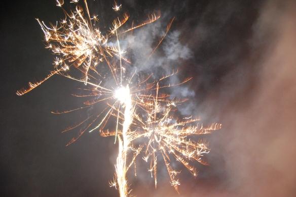 Blick in den Neujahrshimmel