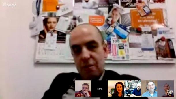 Guido Bosbach von ZUKUNFTheute im #NEO16x Gespräch mit Frank Eilers, Frank Widmayer, Kerstin Schinck, Heiko Fischer und Lars Hahn.