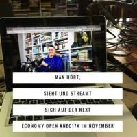 Am 9. und 10. November ist die Next Economy Open #NEO17x - Ideen für Sub-Events gefragt