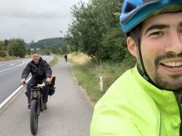 Gunnar und Sascha on the road
