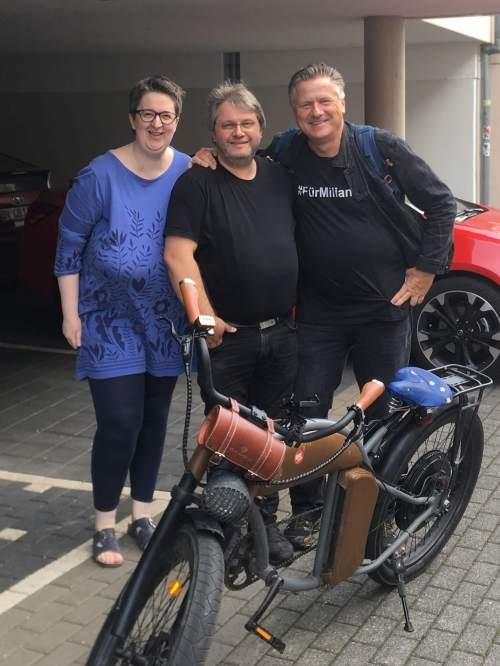 Annette, Guido und gunnar mit dem E-Bike